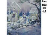 Christmas Season's Greetings Snowmen 536