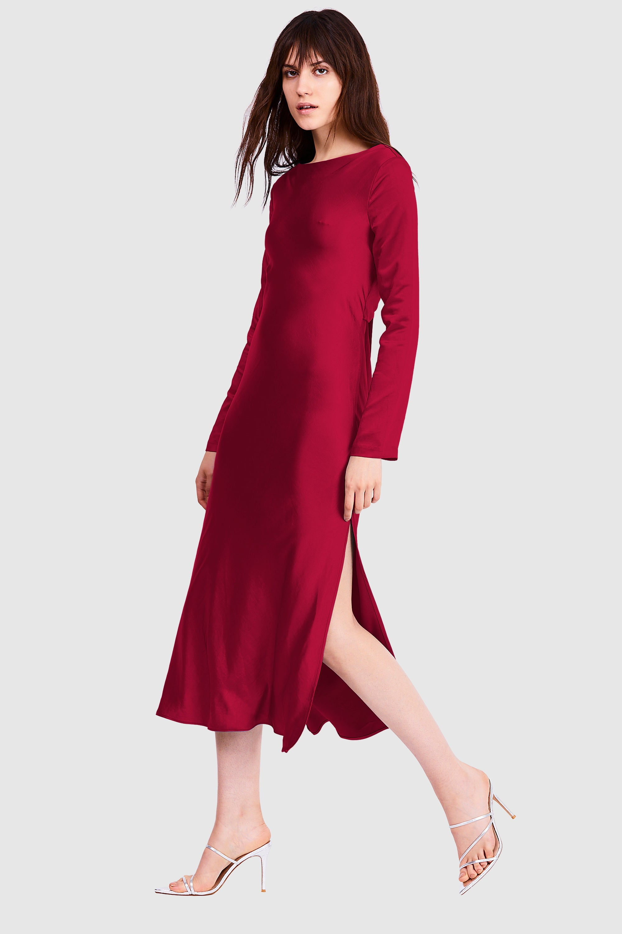 TIE BACK MAXI  BIAS DRESS | RUBY