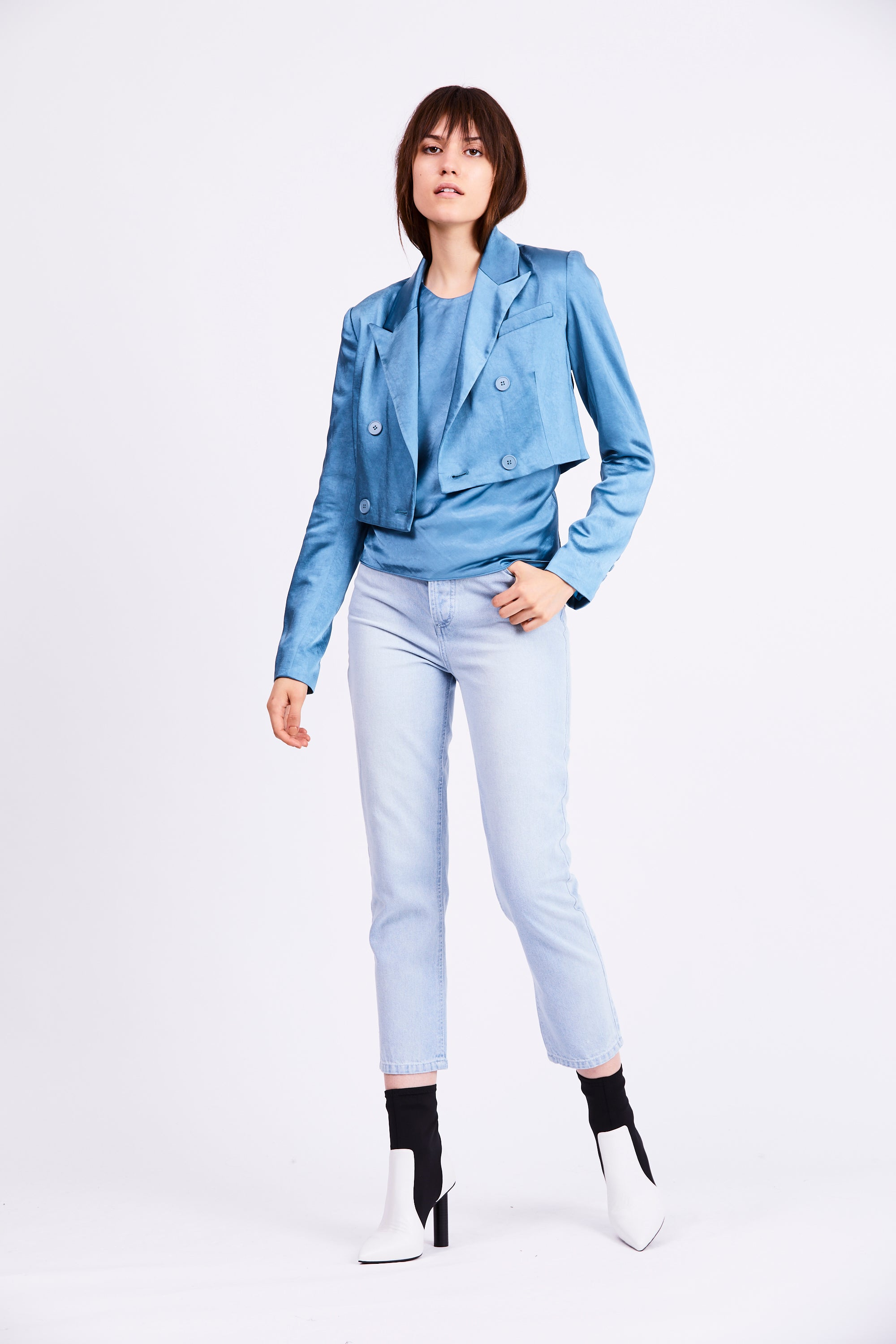 BOSS CROP BLAZER | AGEAN