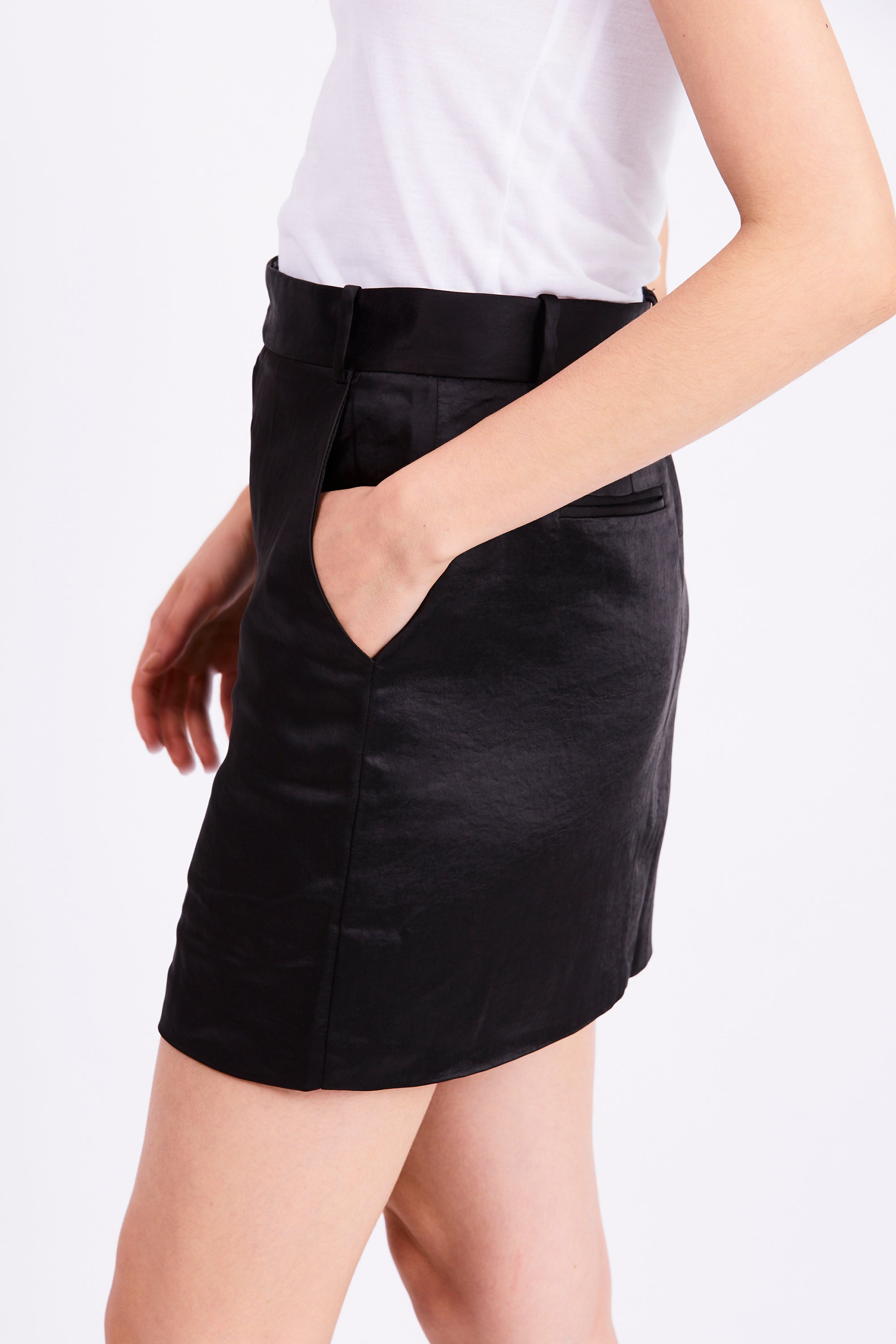 BOSS TAILORED MINI SKIRT | BLACK