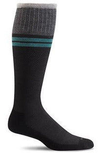 Men's Sportster | Graduated Compression Moderate 15-20 mmHg SW19M Therapeutic Compression Socks Sockwell M/L Black MERINO WOOL/BAMBOO/NYLON/SPANDEX