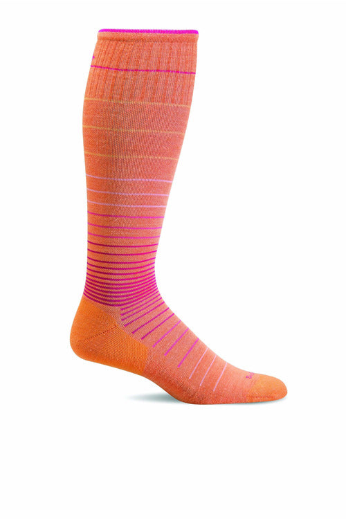 Women's Circulator | Graduated Compression Moderate 15-20mmHg SW1W Therapeutic Compression Socks Sockwell S/M Tangy MERINO WOOL/BAMBOO/NYLON/SPANDEX