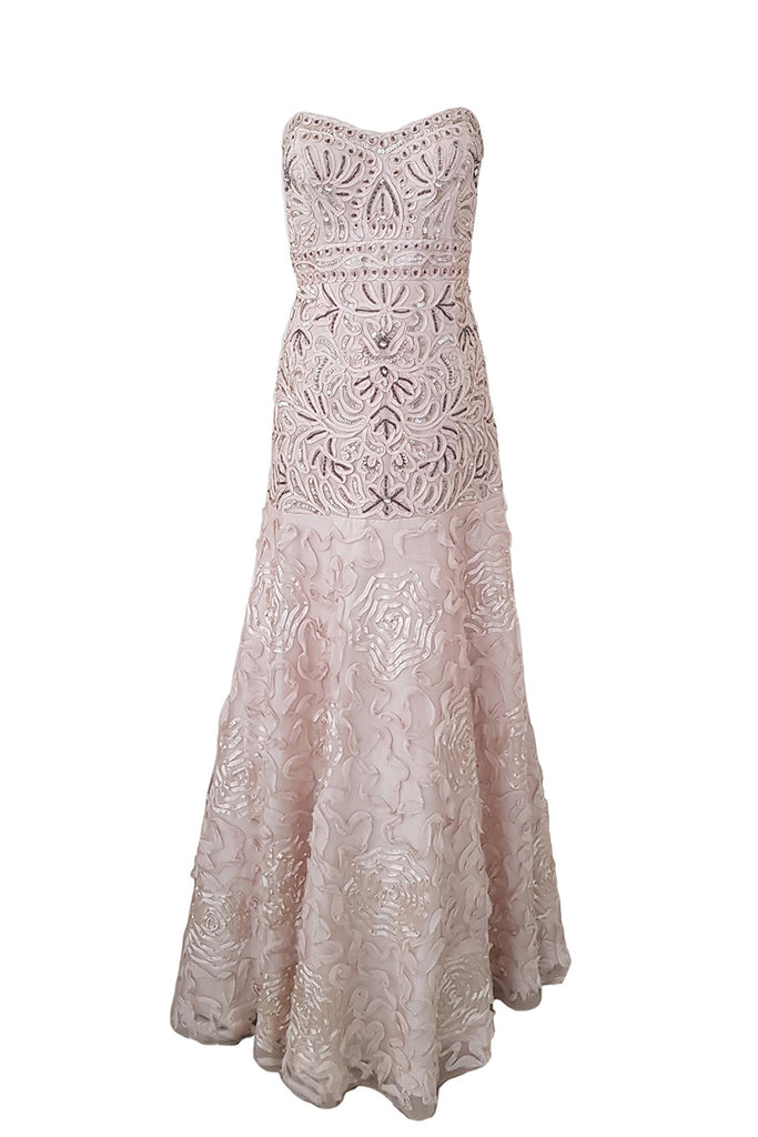 Buy: Sue Wong Pink Blush A-Line Dress