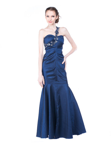Rent: Cache Metallic Blue Mermaid Gown