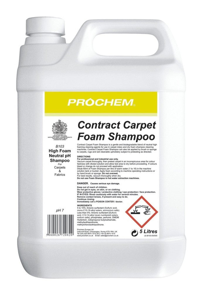 Prochem B103-05 Contract Carpet Foam Shampoo  5L