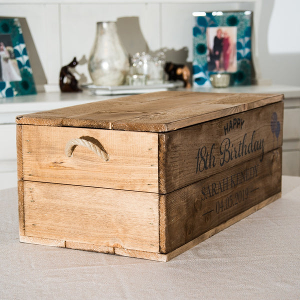 Wooden Gift Box/Hamper with lid