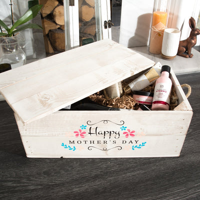 Wooden Corportate Gift Hamper with lid and rope handles