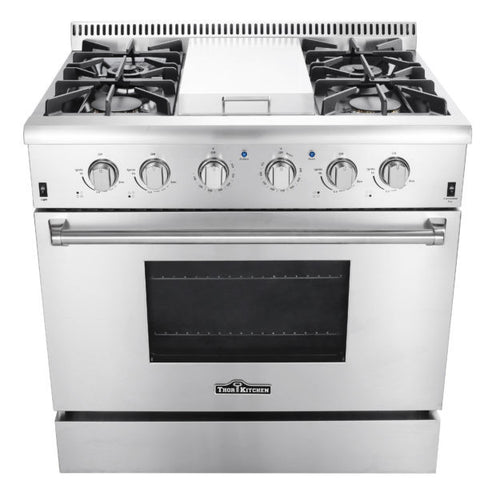 Thor HRG3617U 36″ PROFESSIONAL STEEL GAS RANGE WITH GRIDDLE - d-airconditioning