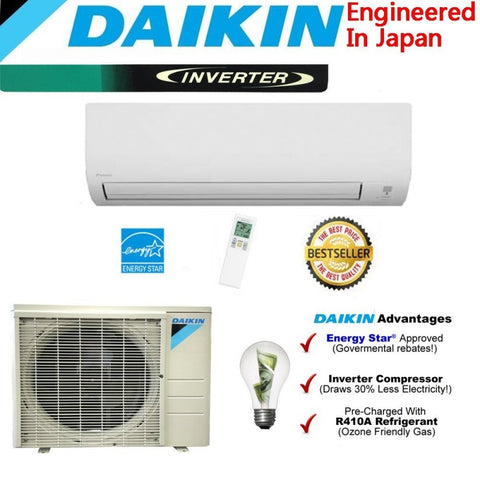 Daikin 12000 BTU Ductless Mini Split rx12n - d-airconditioning