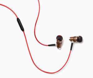 NRG 2.0 In-Ear Wood Headphones - Red