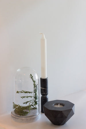 traedecor - Black Marble Flip Candle