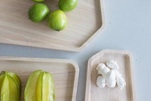 Blis Organic Wood Serving Tray (Large) - Trae Decor - cucumber