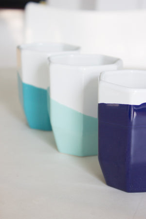 Ceramic Geo Cup Set of 6