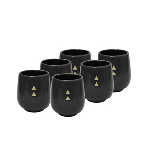 Feeka Cup With Black Triangles Set of 6