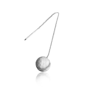 Golf Ball Chain Earring