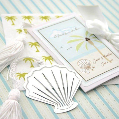"""A Jewel From the Sea"" Seashell Bookmark-Jubilee Favors"