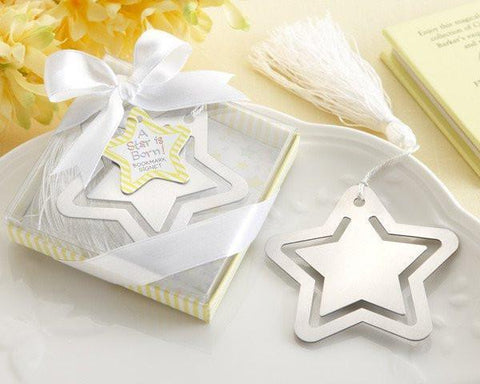 """A Star is Born!"" Metal Bookmark with White-Silk Tassel-Jubilee Favors"