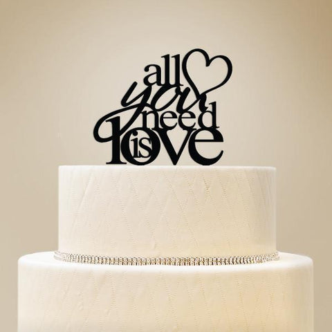 All You Need is Love Wedding Cake Topper-Jubilee Favors