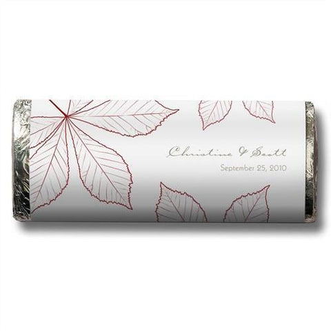Autumn Leaf Nut Free Gourmet Milk Chocolate Bar (Set of 8)-Jubilee Favors