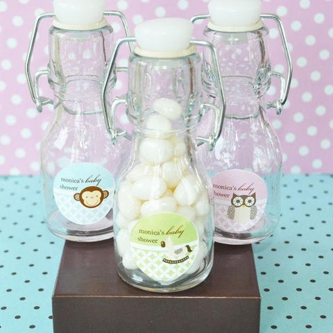 Baby Animal Personalized Mini Glass Bottles-Jubilee Favors