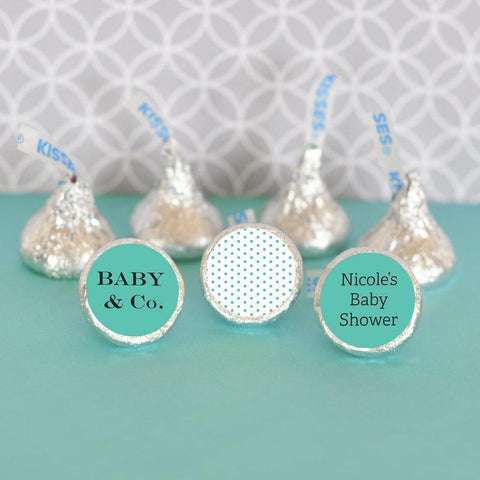 Baby & Co Personalized Hershey's® Kisses Labels Trio (set of 108)-Jubilee Favors