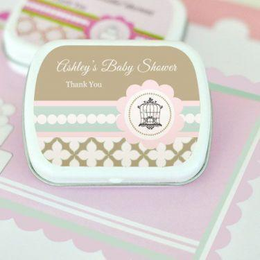 Birdcage Party Personalized Mint Tins-Jubilee Favors