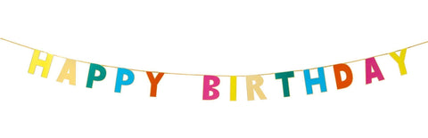 Birthday Brights Rainbow Happy Birthday Garland-Jubilee Favors