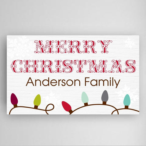 Christmas Lights Canvas Sign-Jubilee Favors
