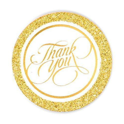 Glitter Thank You Tags-Jubilee Favors