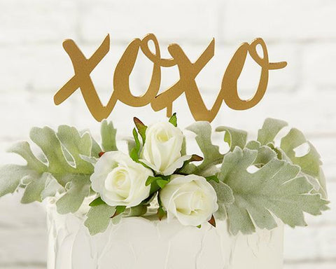 Gold XOXO Cake Topper-Jubilee Favors
