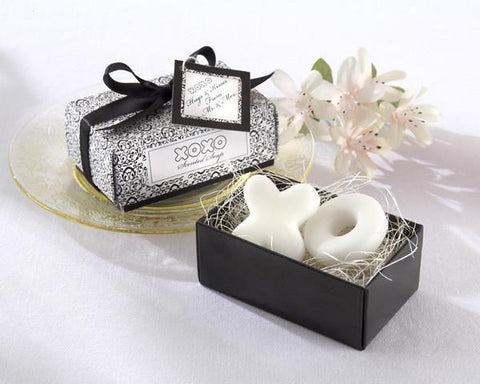 """Hugs & Kisses From Mr. and Mrs.!"" Scented Soaps-Jubilee Favors"