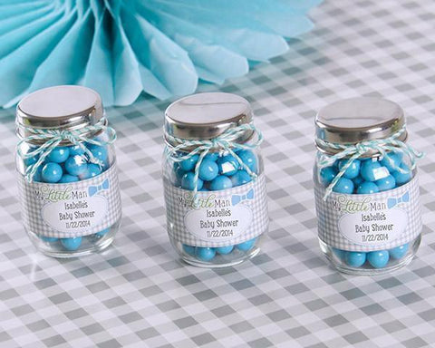 """My Little Man"" Personalized Mini Mason Jar (Set of 12)-Jubilee Favors"