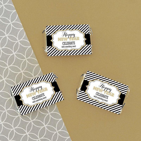 New Years Eve Party Personalized Mini Candy Bar Wrappers-Jubilee Favors