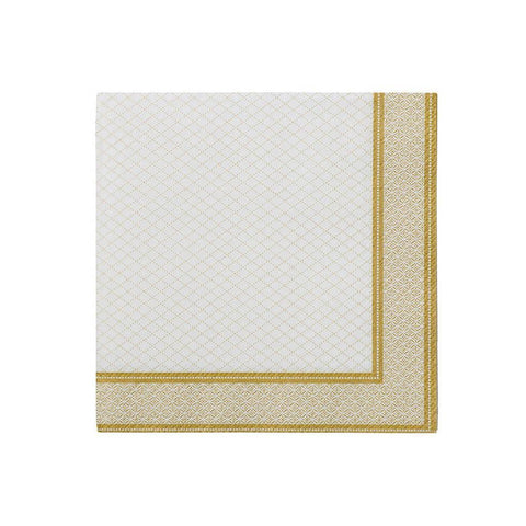 Party Porcelain Gold Cocktail Napkin-Jubilee Favors