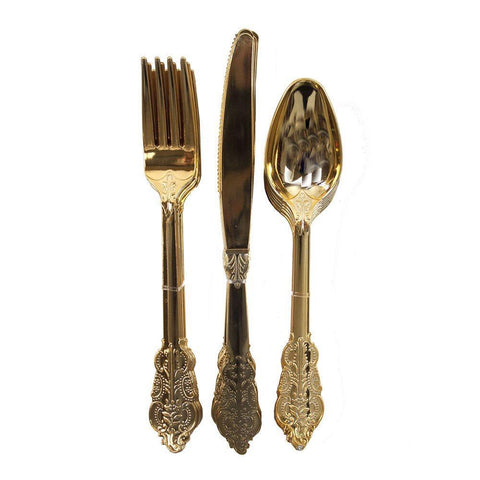 Party Porcelain Gold Cutlery-Jubilee Favors