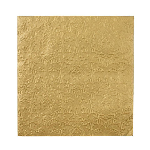 Party Porcelain Gold Embossed Napkins-Jubilee Favors