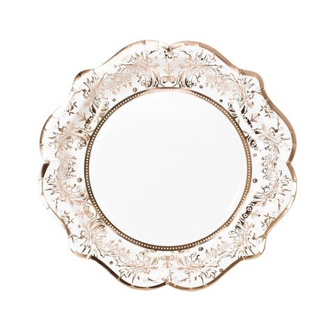 Party Porcelain Rose Gold Plate-Jubilee Favors