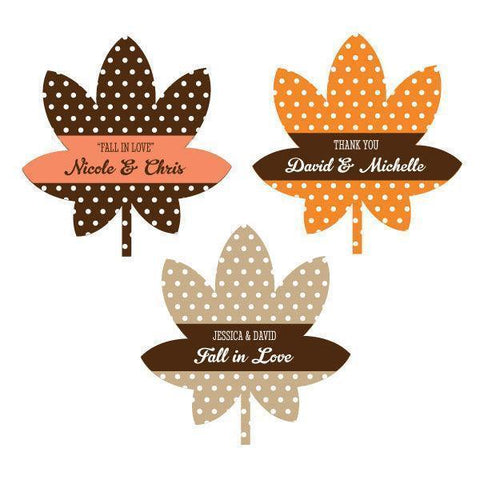 Personalized Fall Leaf Labels-Jubilee Favors