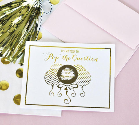 Pop The Question Bridesmaid Cards (set of 8)-Jubilee Favors