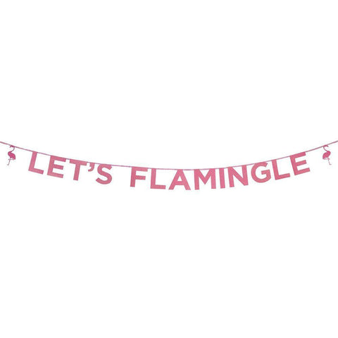 Say It With Glitter Let's Flamingle' Banner-Jubilee Favors