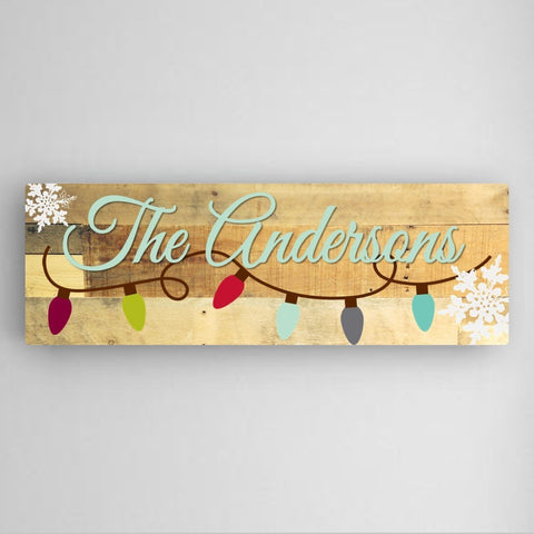 Snowflakes Canvas Sign-Jubilee Favors