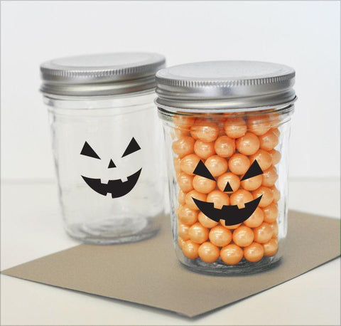 Spooky Face Halloween Stickers (set of 20)-Jubilee Favors