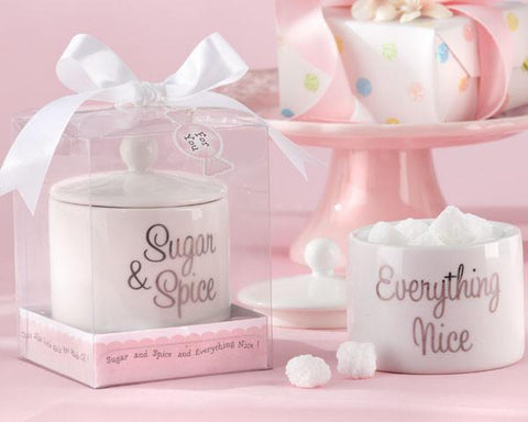 """Sugar, Spice and Everything Nice"" Ceramic Sugar Bowl-Jubilee Favors"