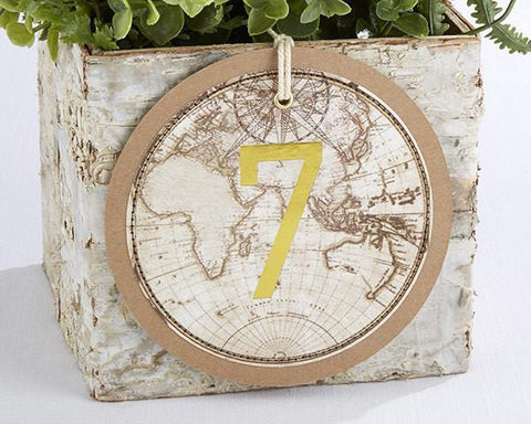 Travel and Adventure Gold Foil Table Numbers (1-18)-Jubilee Favors
