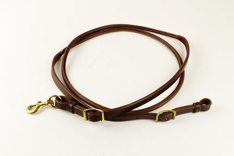 Rolled and Sewn Harness Leather Roping Rein