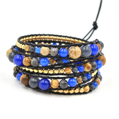 Earth and Sky Graduated Wrap Bracelet
