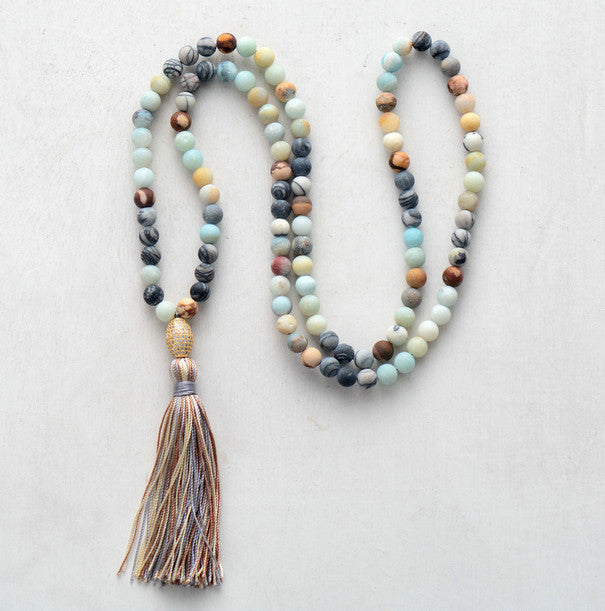 Natural Stones Classic Tassel Necklace