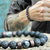 Lava and Black Labradorite Men's Bracelet