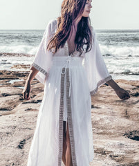 White Siren Wrap Dress - Made To Order