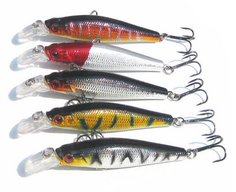MInnow Diving Crankbait Lures - 5 Pack - Thirsty Buyer - 1